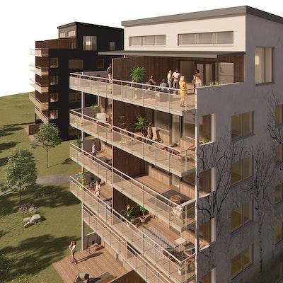 Vy över balkongerna